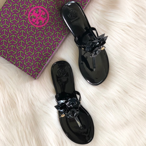 44db4591f ✨TORY BURCH BLOSSOM JELLY THONG SANDALS